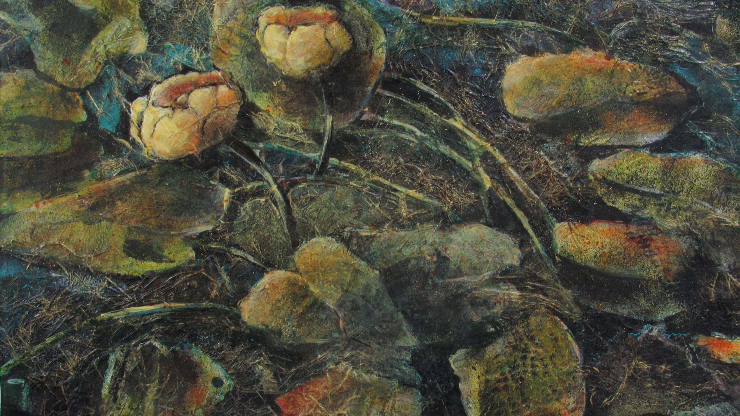 St Marie, Fay - Yellow Waterlilies