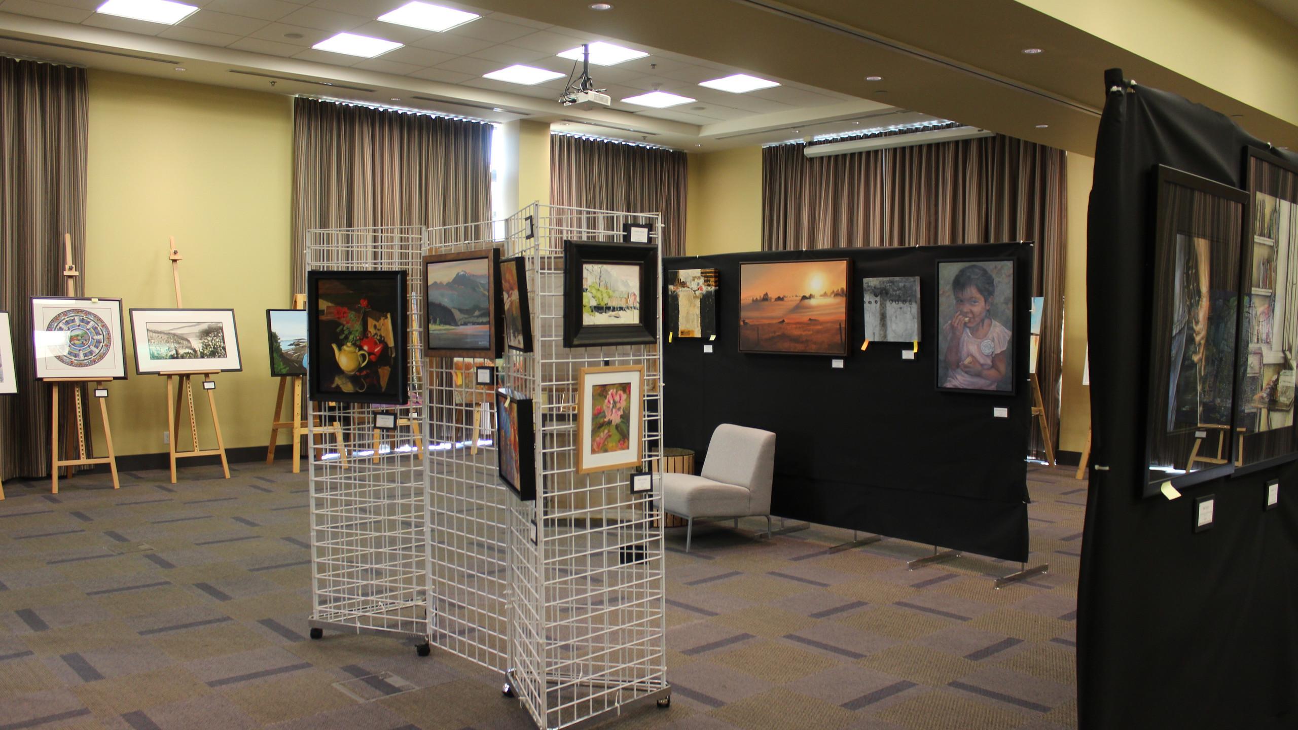 2017 Nanaimo Fine Art Show Setup