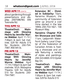 What's On Digest Nanaimo April 2018