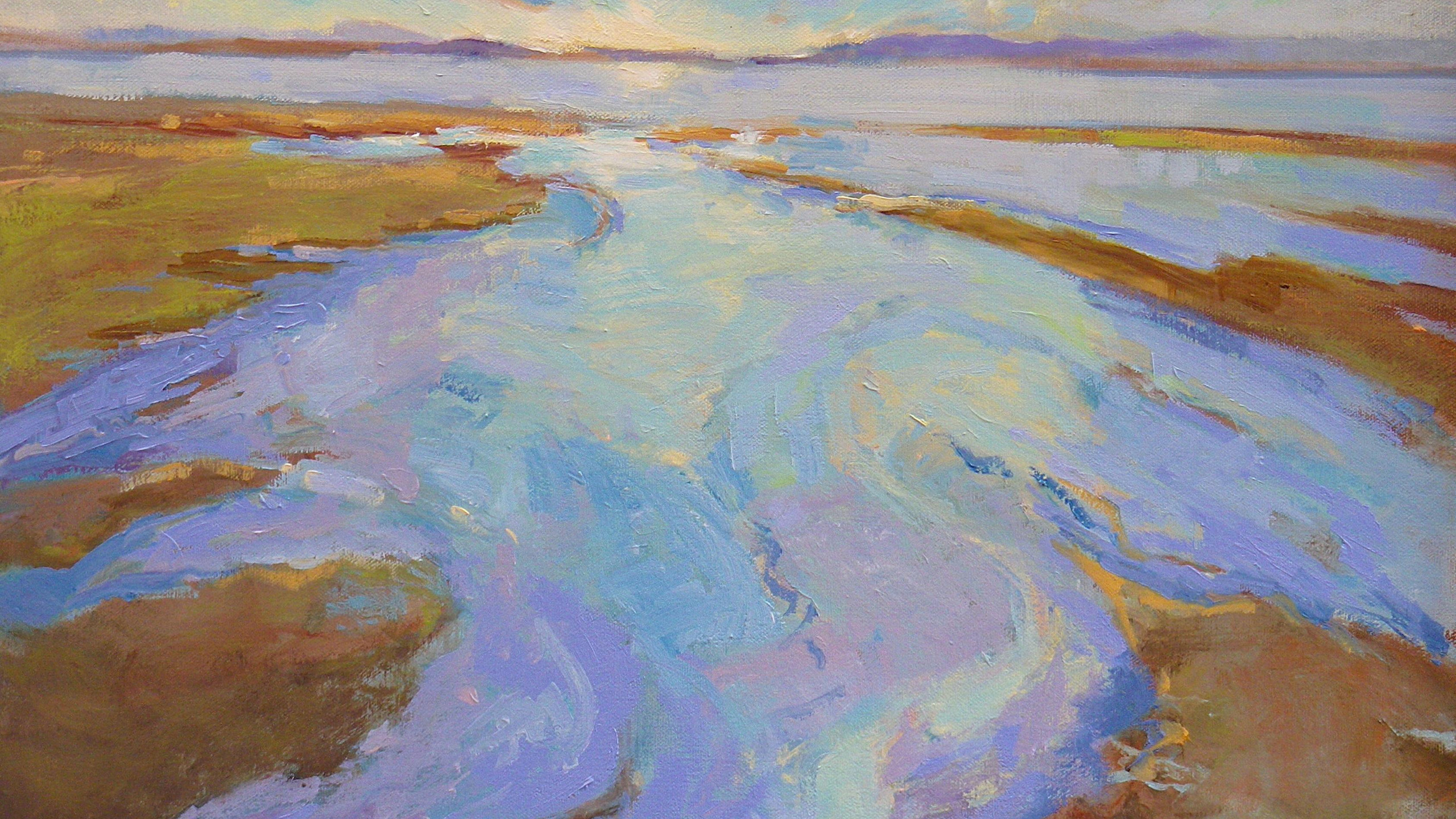 Colbeck, Lynda A - Colbeck Lynda Low Tide Sunset 20x30 oil