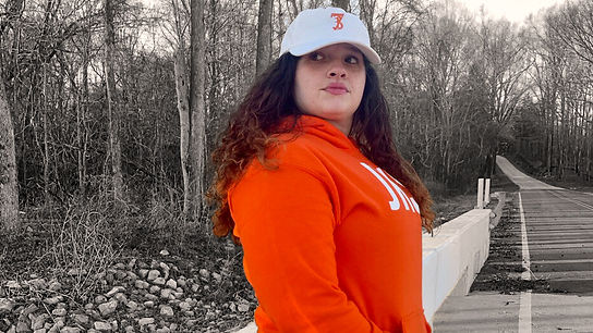 Orange JKSN Hoody, Orange SevenThirtyOne Dad Hat