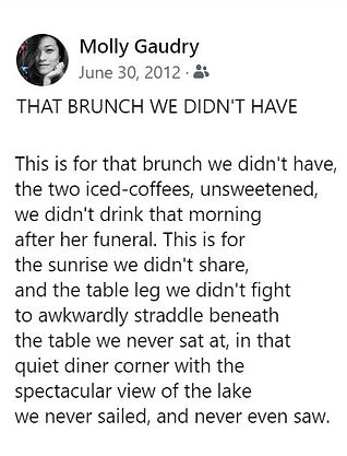 Molly Gaudry -That Brunch We Didn't Have