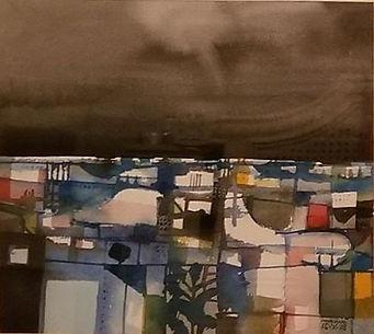 Malang -Coming Storm 1978 watercolor 10x