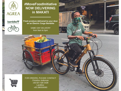 #MoveFoodInitiative by AGREA X Bambike Delivery