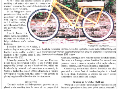 Bamboo Bikes Come of Age in Crisis