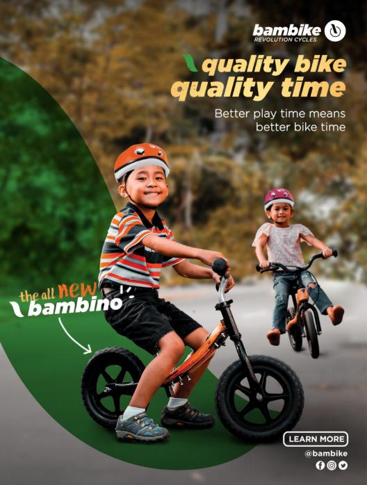 Bambino boy and girl balance bike