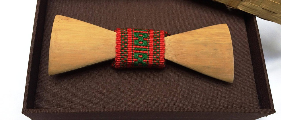 Bambowtie Woven Red & Green