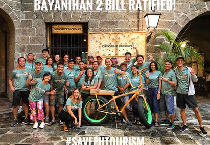 #SavePHtourism, Bayanihan 2 Bill Ratified: P10B for Tourism!