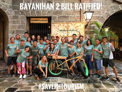 #SavePHtourism, Bayanihan 2 Bill Ratified: P10B for Tourism!