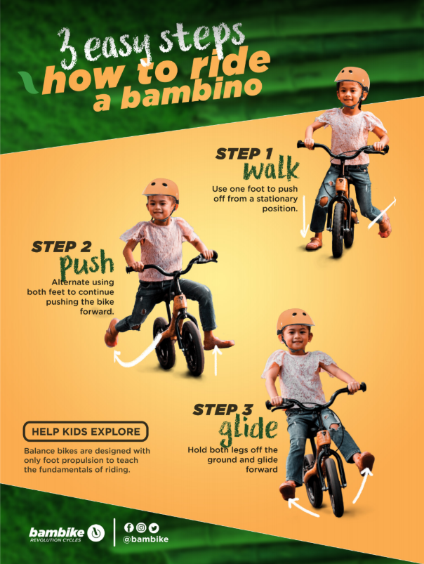 How to ride bambino balance bike