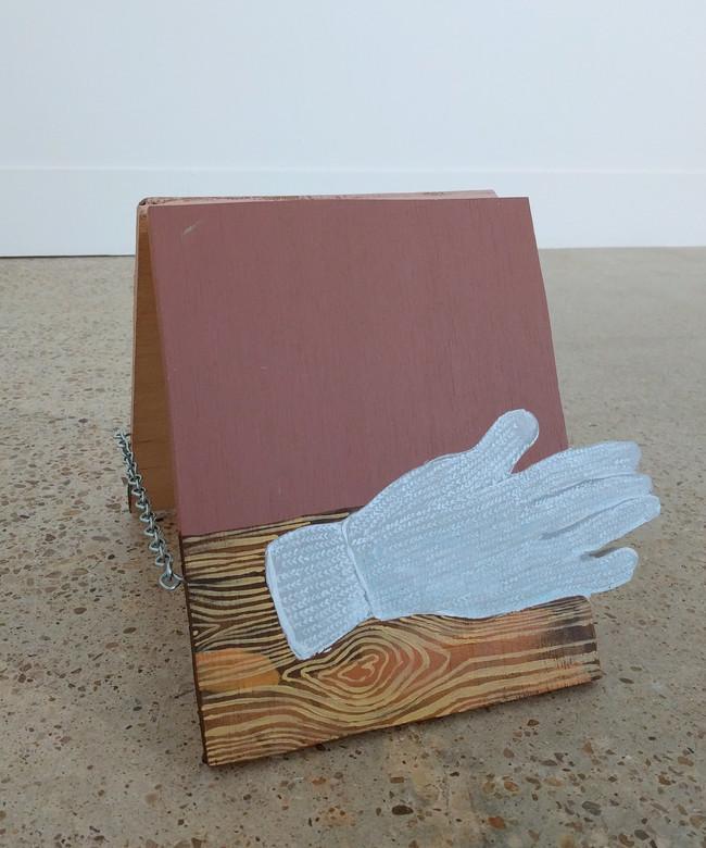 Sandwich board with knit glove
