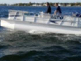 Fiberglass pontoon
