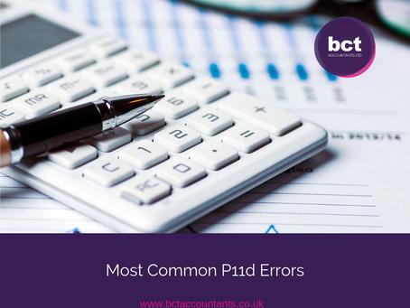 Top 5 Most Common P11d Errors