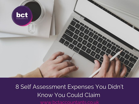 8 Self Assessment Expenses You Didn't Know You Could Claim