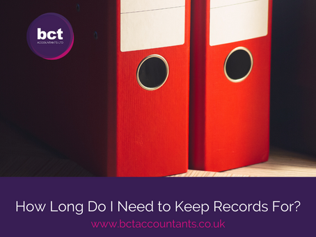 How Long Do I Need to Keep Records For?