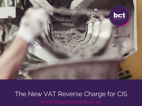 The New VAT Reverse Charge for CIS - The Countdown Is On