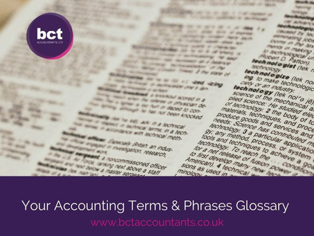 Your Accounting Terms & Phrases Glossary