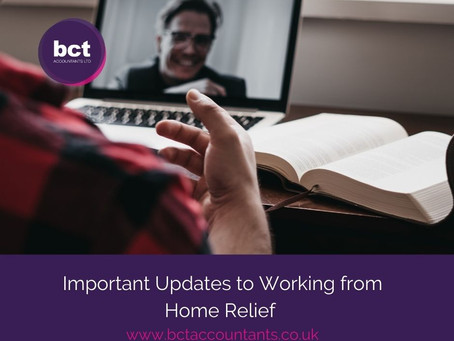 Important Updates to Working from Home Tax Relief
