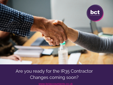 Are you ready for the IR35 Contractor Changes coming soon?