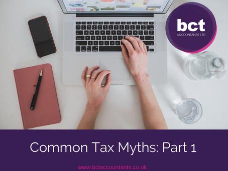 Common Tax Myths : Part 1