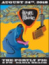HOTD BlueDawg gig flyer