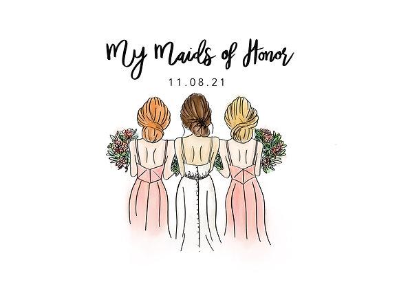 Bridal Party Illustration