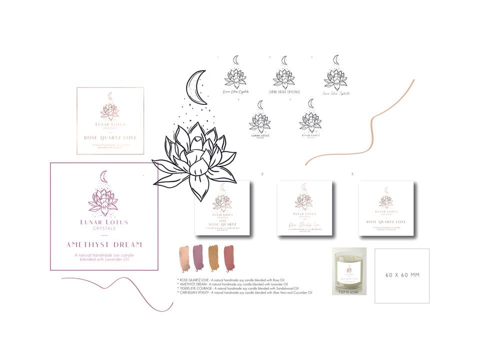 Luna Lotus Crystals -Business Moodboards