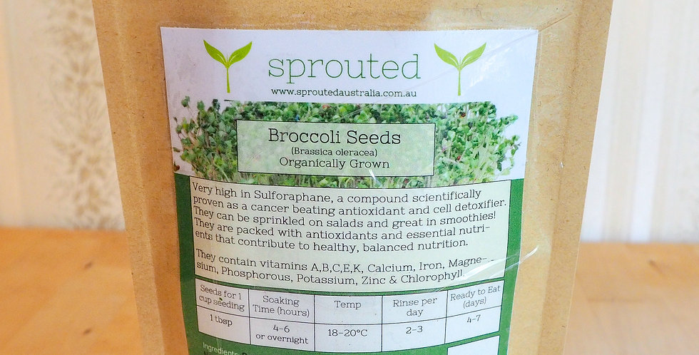 500g Broccoli Seeds for Sprouting