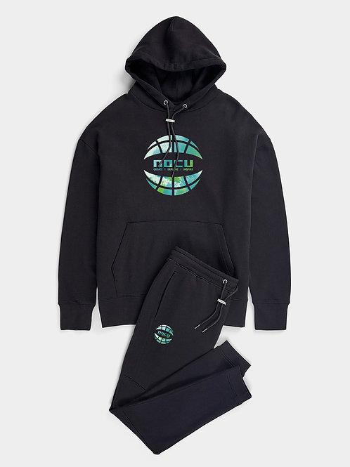 Globe Watercolor Hoodie (Black)
