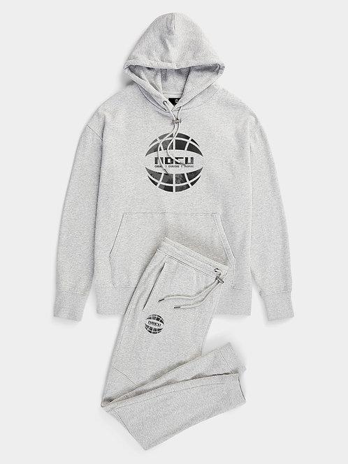 Globe Watercolor Hoodie (Grey)