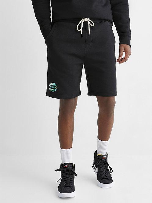 Watercolor Sweat Shorts (Black)
