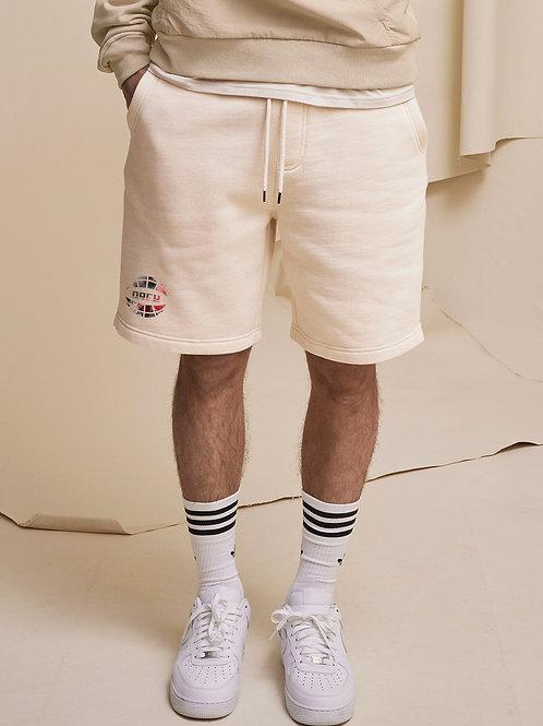 Watercolor Sweat Shorts (Cream)