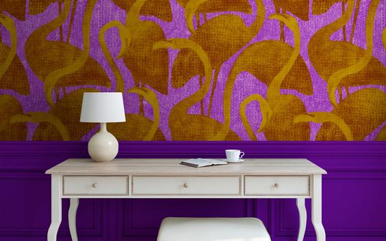 flamantrose-orange-violet-mise en situat