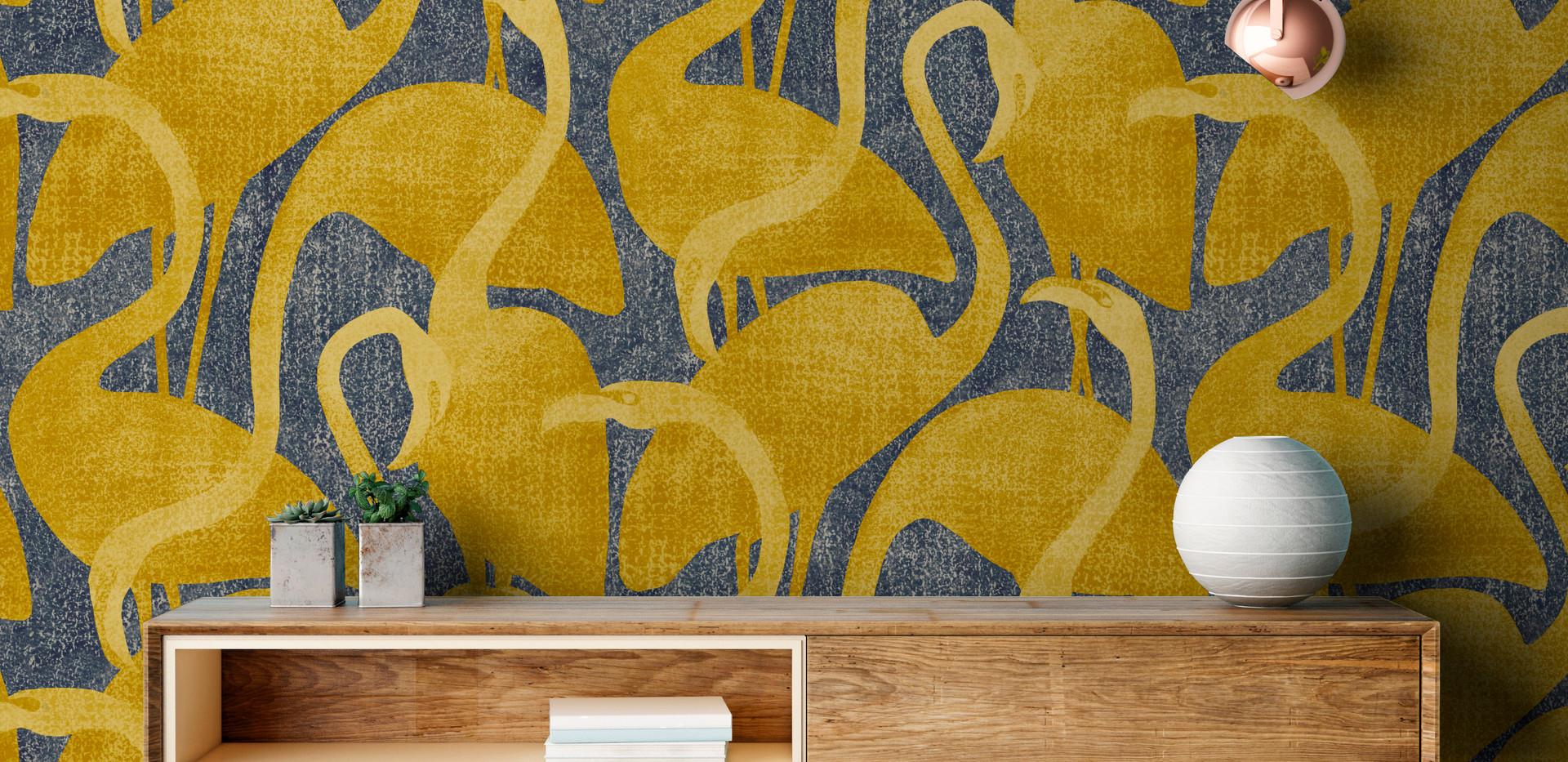 flamantrose-jaune-gris-mise en situation