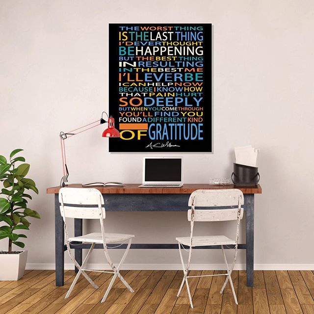 GRATITUDE Poster $25 ImSimplyArtistic #Etsy #Etsyshop #etsyseller #poetry