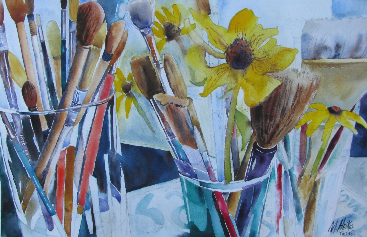 Rudbeckias & Brushes