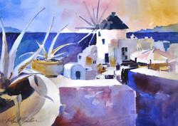Santorini Gloaming