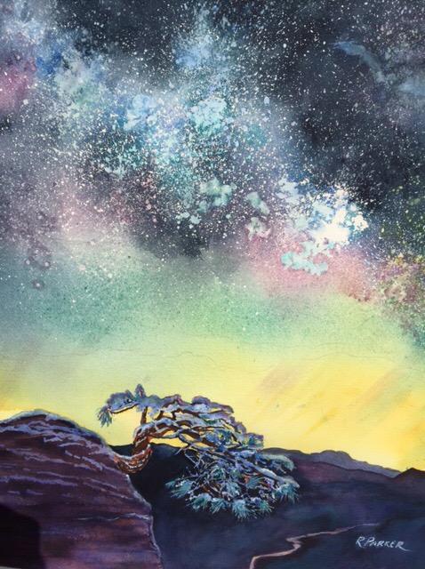 Aurora Meets the Milky Way