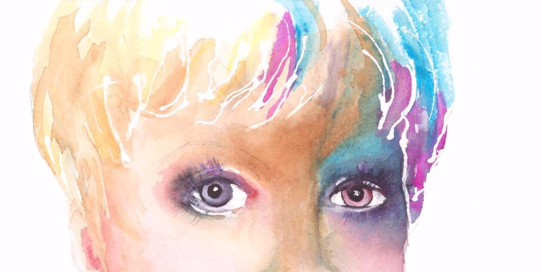 Mardi Gras Eyes Self Portrait