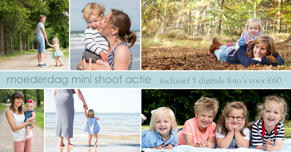 moederdag actie mini fotoshoot