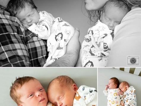 Newborn lifestyle shoot tweeling Bergen op Zoom