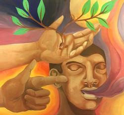 Two hands / Dos manos  (Acrylic)