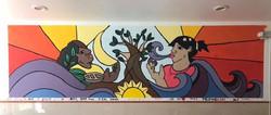 Madre y La Tierra, Community Mural, CDMX
