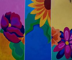 Oaxaca flowers (Mural, Oaxaca, MX)