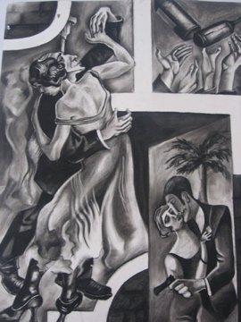 Dancing (Charcoal)
