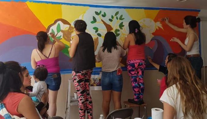 Pintando Juntas, Mural Casa Hogar Madres