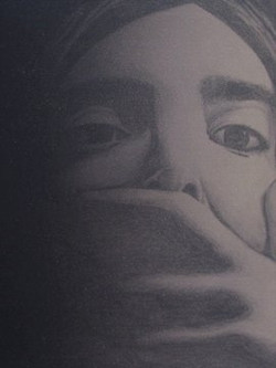 Silence (Monoprint)