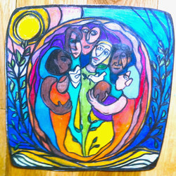 Community (Colored pencil)