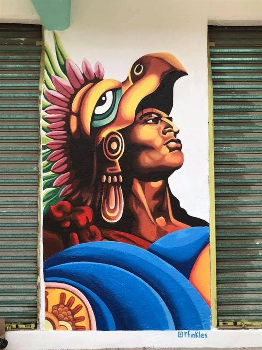 Cuauhtemoc (mural, Puerto Escondido, Oax
