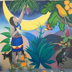 Mujer de La Luna, Mural, Oaxaca